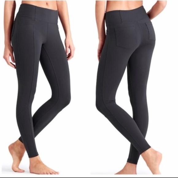 988e86bc03ace7 Athleta Pants | Black Leggings Front Back Pockets 30 | Poshmark